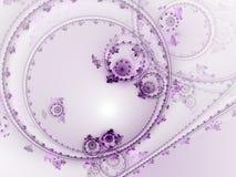 Purper fractal uurwerk stock illustratie