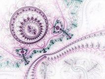 Purper fractal uurwerk royalty-vrije illustratie