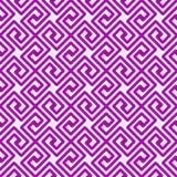 Purper Geometrisch Vierkanten Grieks naadloos patroon royalty-vrije illustratie