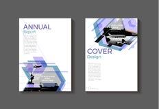 Purper modern abstract de Brochuremalplaatje van het dekkingsboek, ontwerp, ann vector illustratie