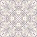 Purper patroon met bloemen en wervelingen royalty-vrije illustratie