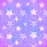 Purper vaag sterren vector naadloos patroon Stock Afbeelding