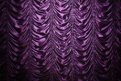 Purper zijdegordijn royalty-vrije stock fotografie