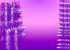 Purpere abstracte geometrische achtergrond Royalty-vrije Stock Fotografie