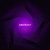 Purpere Achtergrond Adreskaartjeachtergrond Abstract geometrisch patroon, Futuristisch technologie 3D kader Vector vector illustratie