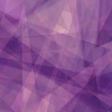 Purpere achtergrond met driehoeksvormen in abstracte patroon en lijnen Stock Afbeelding
