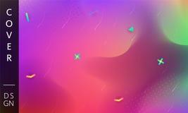 Purpere bedrijfsachtergrond Moderne violette oranje golvenachtergrond Vectorontwerpsjabloon voor affiche, banner of om het even w stock illustratie