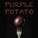 Purpere of blauwe aardappel Stock Foto