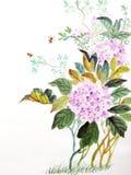 Purpere bloem royalty-vrije illustratie