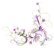 Purpere bloem en wijnstokken Royalty-vrije Stock Foto