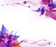 Purpere bloem vectorachtergrond Royalty-vrije Stock Foto's