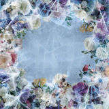 Purpere bloemen in ijs Royalty-vrije Stock Foto