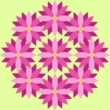 Purpere bloemen met groene achtergrond Stock Illustratie