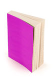 Purpere boekdekking met het knippen van weg Stock Foto's