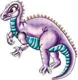 Purpere dinosaurus Stock Afbeeldingen