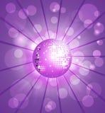 Purple van de Bal van de disco stock illustratie