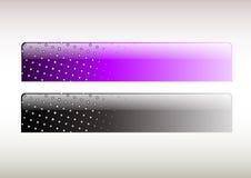 Purpere en zwarte staaf Royalty-vrije Stock Afbeeldingen