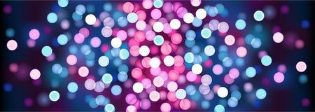 Purpere feestelijke lichten Vector illustratie Royalty-vrije Stock Afbeeldingen