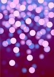 Purpere feestelijke lichten, vectorachtergrond Royalty-vrije Stock Foto