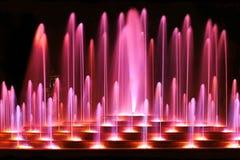 Purpere fontein Royalty-vrije Stock Afbeeldingen