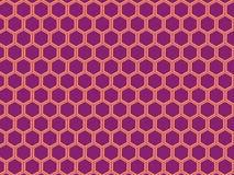 Purpere Fruitige Honingraat stock illustratie