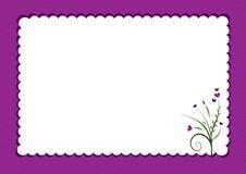 Purpere gegratineerde grens met bloemen vector illustratie