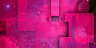 Purpere geometrische samenstelling met schaduwen 1 vector illustratie