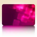 Purpere giftkaart. EPS 8 Stock Foto