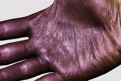 Purpere Hand Glanzende Huidtextuur voor Reclame royalty-vrije stock afbeelding