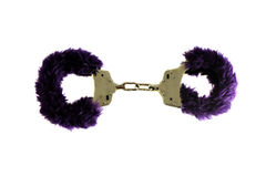 Purpere Handcuffs van de Amulet Stock Fotografie