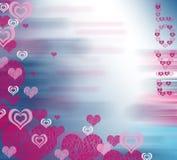 Purpere harten voor mijn Valentijnskaart Stock Fotografie