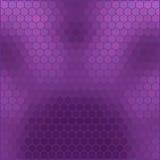 Purpere honingraat - abstract geometrisch hexagon net Stock Foto's