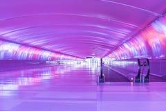 Purpere Lichte Tunnel Royalty-vrije Stock Foto's