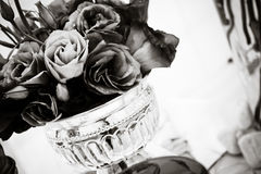 Purpere Lisianthus - Zwarte & Wit Stock Afbeelding