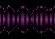 Purpere muziekequaliser vector illustratie