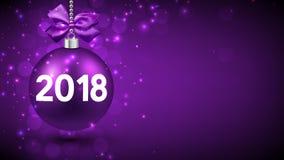Purpere 2018 Nieuwjaarachtergrond Royalty-vrije Stock Afbeeldingen