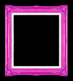Purpere omlijstingen Geïsoleerde op zwarte achtergrond Stock Foto's
