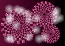 Purpere optische illusie Stock Afbeeldingen