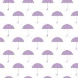 Purpere paraplu's naadloze achtergrondpatroon vectorillustratie stock illustratie