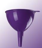 Purpere plastic trechter Royalty-vrije Stock Afbeelding