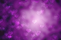 Purpere romantische achtergrond Royalty-vrije Stock Afbeeldingen
