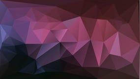 Purpere roze abstracte driehoeksachtergrond Stock Afbeelding