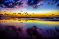 Purpere Schemering - Porto DE Galinhas - Recife Brazilië | Rubem Sousa Forums Box® Royalty-vrije Stock Fotografie