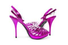 Purpere schoenen Royalty-vrije Stock Afbeeldingen