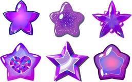 Purpere sterren Royalty-vrije Stock Afbeelding