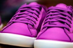 Purpere tennisschoenschoen Stock Afbeelding