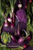Purpere Veggies Royalty-vrije Stock Foto's