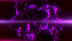 Purpere Vlecht Abstracte Lijnen & Driehoeken Intro Logo Background royalty-vrije illustratie