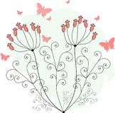Purpere vlinders voor groetkaarten Royalty-vrije Stock Afbeelding