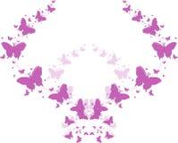 Purpere vlinders voor groetkaarten Royalty-vrije Stock Foto's